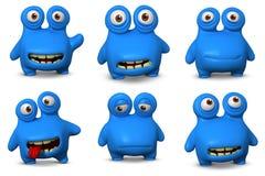 Anomalie bleue mignonne Images libres de droits