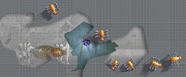 Anomalies de Robo sur la réparation illustration de vecteur