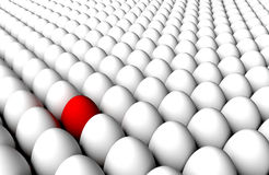 Anomaly Detection White Eggs Endless Background royalty free stock image