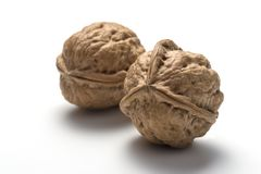 Anomaly of nature on a walnut Royalty Free Stock Photo