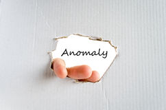 Anomaly text concept Stock Photography