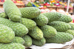 Anona fruits on display on a market Royalty Free Stock Photography