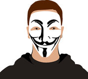Anoniem masker Royalty-vrije Stock Afbeelding