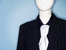 Anoniem proefmodel gekleed in pak en band royalty-vrije stock foto