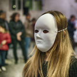 Anonieme vrouw Stock Foto's