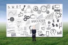 Anonieme zakenman en SEO-strategie Stock Afbeelding