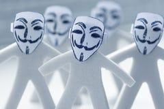 Anonimato en Internet Fotos de archivo