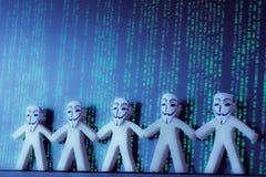 Anonimato en línea en Internet Foto de archivo
