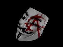 Anonimowa anarchia Guy Fawkes Fotografia Royalty Free