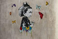 Anonimowa uliczna sztuka w San Telmo, Buenos Aires, Argentyna obrazy stock