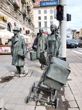 Anonimowi Pedestrians, Wroclaw, Polska Zdjęcie Royalty Free