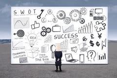 Anonimowy biznesmen i SEO strategia 1 zdjęcie stock