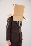 Anonimowy biznesmen z ręka puszkiem Obraz Royalty Free