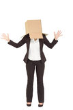 Anonimowy bizneswoman z ona ręki up zdjęcia stock