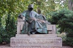 anonimowy Budapest grodowy statuy vajdahunyad zdjęcie stock