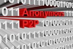 Anonimowy P2P Fotografia Stock