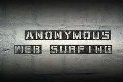 Anonimowy sieć surfing Fotografia Stock
