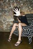 anonimowy telefon komórkowy kobieta Obrazy Royalty Free
