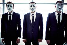 Anonimowy tercet Obraz Royalty Free