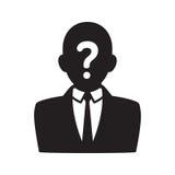Anonym användaresymbol royaltyfri illustrationer