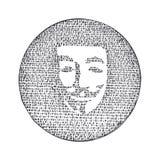Anonym binär kod för kontur också vektor för coreldrawillustration stock illustrationer
