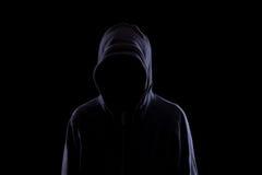 Anonym in der Dunkelheit lizenzfreies stockfoto