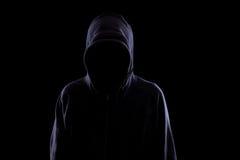 Anonym in der Dunkelheit lizenzfreies stockbild