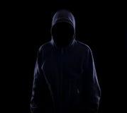 Anonym in der Dunkelheit stockbilder