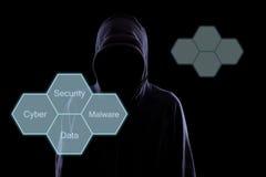Anonym in der Dunkelheit stockfoto