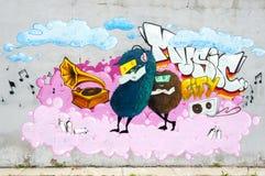 Anonym grafittibild Royaltyfri Bild
