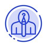 Anonym, Künstler, Autor, Autorschaft, kreative Linie Ikone der blauen punktierten Linie stock abbildung
