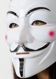 Anonym maskering Arkivfoto