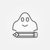 Anonym schreiben der einfachen Ikone des Konzeptes lizenzfreie abbildung