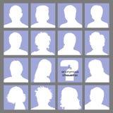 anonyma sociala avatarsnätverk Arkivbilder
