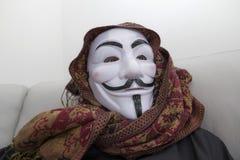 Anonyme de pirate informatique masqué photographie stock libre de droits