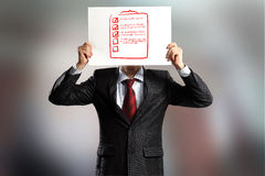 Anonymes Interview Stockfoto