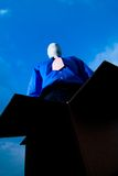 Anonymity. A low angle of a businessman with his face hidden stock photos