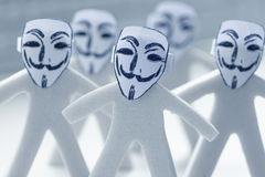 Anonymity on Internet. Online anonymity on Internet concept stock photos