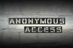 Anonymous access gr Royalty Free Stock Photography