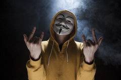 Anonymous activist hacker with mask studio shot Royalty Free Stock Photo