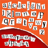 Anonymous alphabet - white clippings Stock Photography