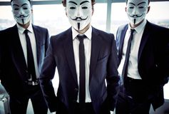 Anonymous attitude Stock Photos