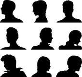 Anonymous avatar set. Nine vector anonymous avatar set Royalty Free Stock Photos