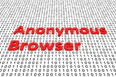 Anonymous browser Royalty Free Stock Images