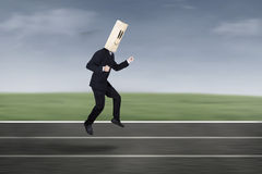 Anonymous businessman in race competition 1 Stock Image