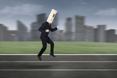 Anonymous businessman in race competition 1 Royalty Free Stock Images