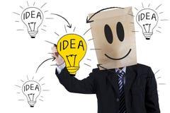 Anonymous businessman writing idea Royalty Free Stock Image