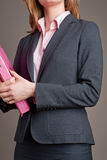 Anonymous businesswoman wearing suit Royalty Free Stock Image