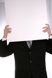Anonymous Chart. Businessman with Blank Chart Stock Photos