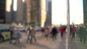 Anonymous crowd of people walking on a street stock video footage